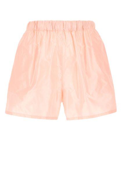 Pastel pink taffeta shorts