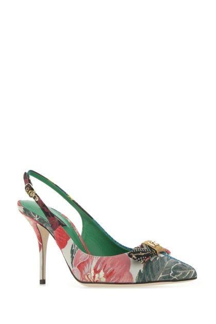 Multicolor fabric Cardinale 90 pumps