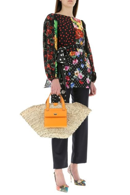 Straw Kendra handbag