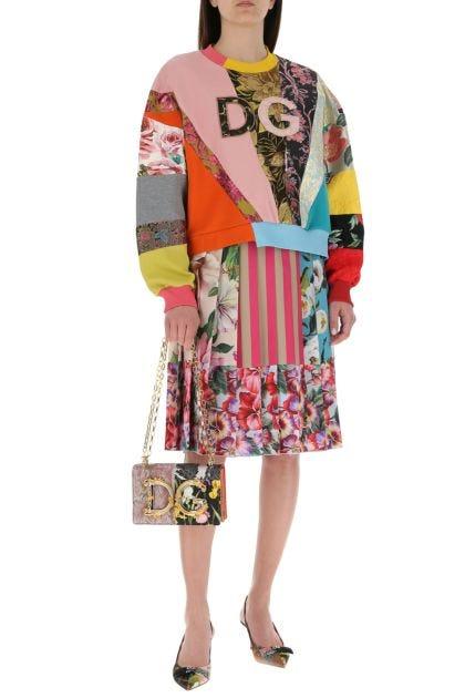 Multicolor fabric and leather DG Girls shoulder bag