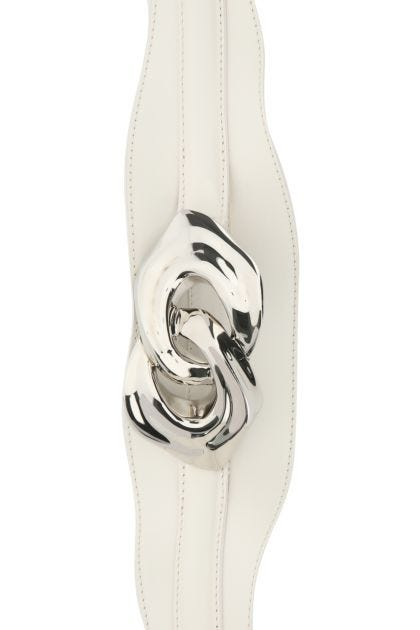 Ivory leather Sculptural belt
