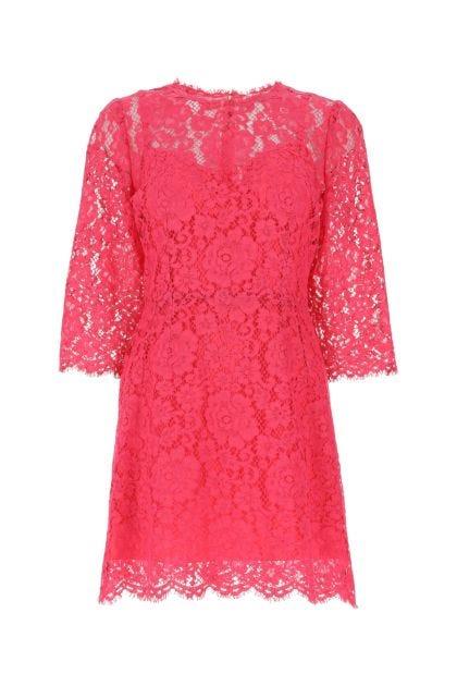 Fuchsia lace dress
