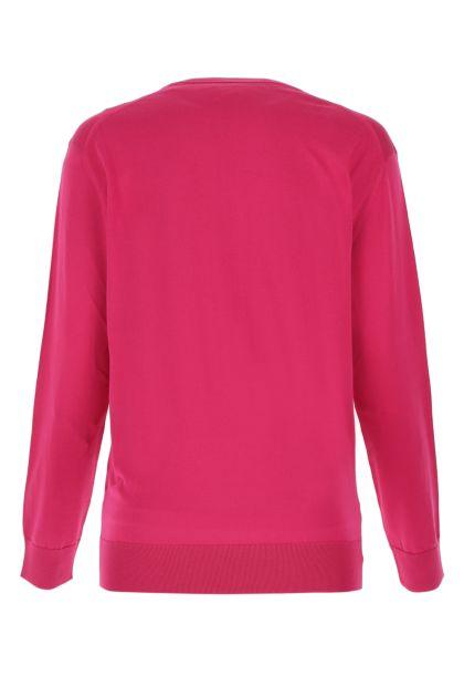 Fuchsia silk oversize sweater