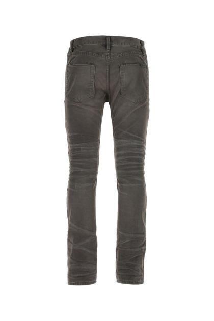 Charcoal cotton jeans