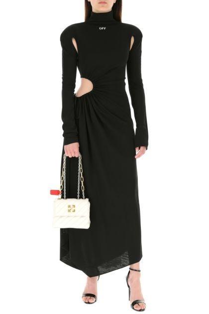 Black stretch viscose dress