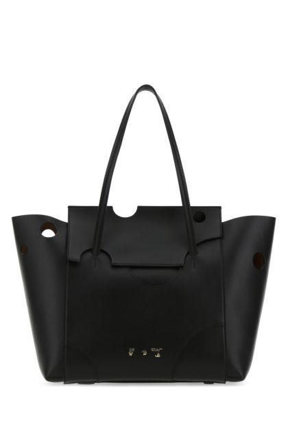 Black leather Burrow 38 shopping bag