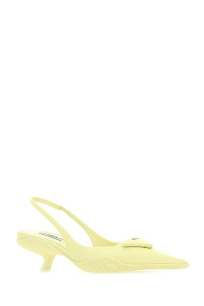 Pastel yellow nylon pumps