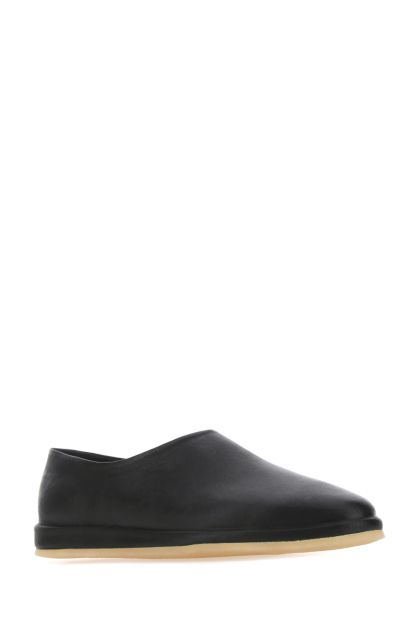 Black leather The Mule loafers