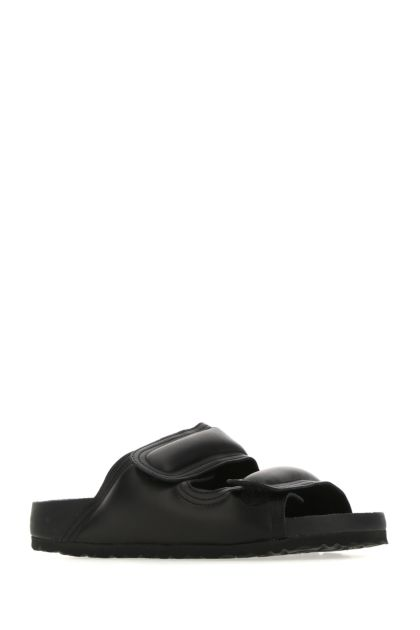 Black nappa leather The Beachcomber slippers