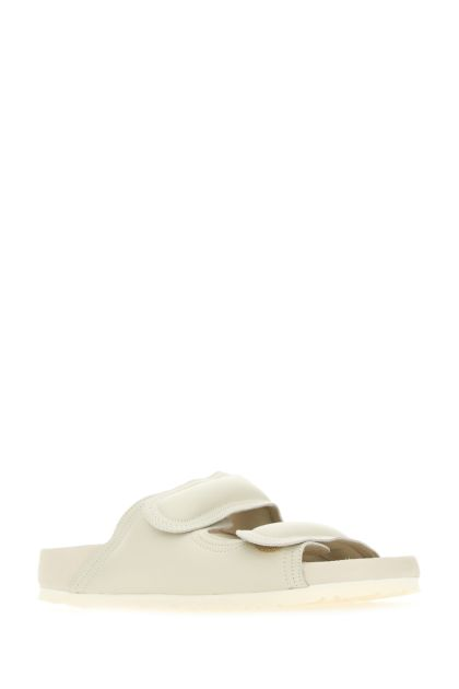 Chalk nappa leather The Beachcomber slippers