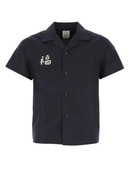 Dark blue wool blend Sanko Souvenir shirt