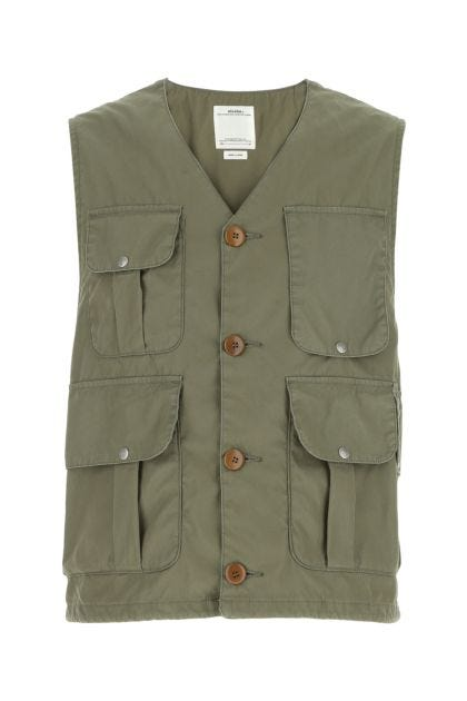 Military green cotton blend Minto Hunting vest