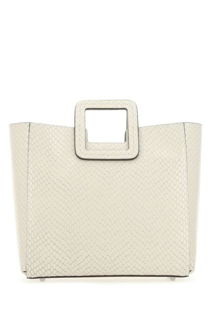 Ivory leather Shirley shopping bag