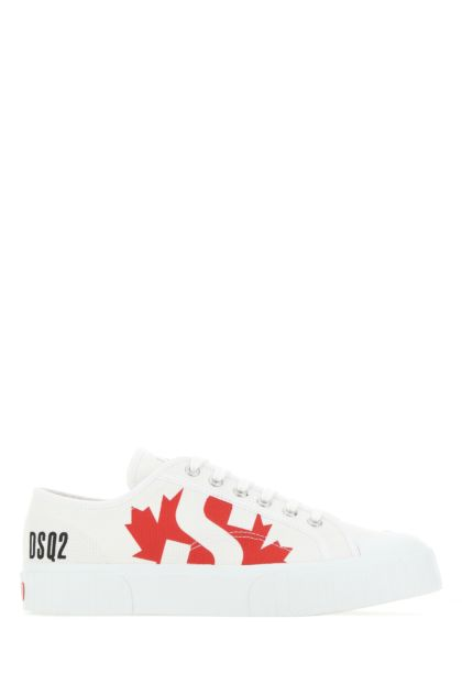White canvas D2Kids sneakers