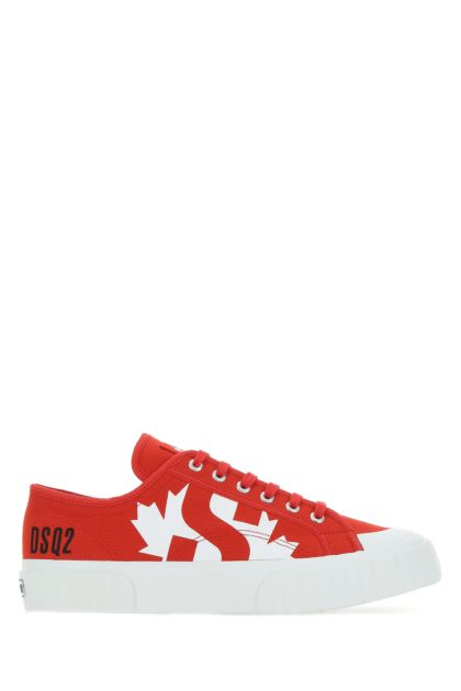 Red canvas D2Kids sneakers