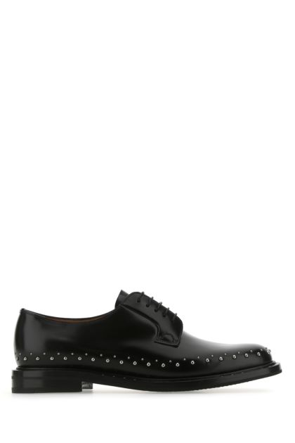 Black leather Shannon Met 2 lace-up shoes