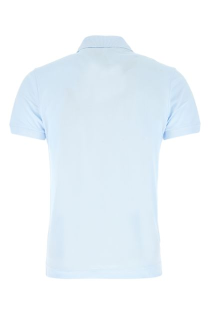 Pastel light-blue piquet polo shirt