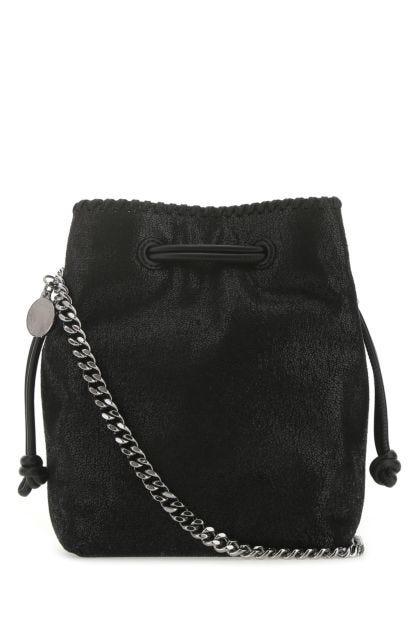 Black shaggy deer micro Falabella bucket bag