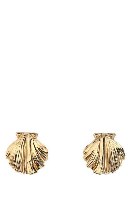 Gold brass earrings