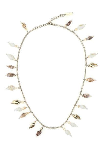 Embellished metal necklace