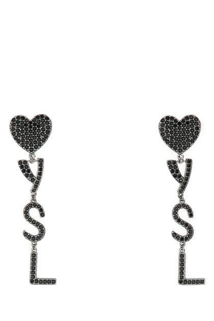 Embellished metal Coeur earrings