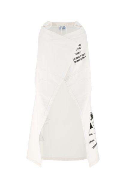 White cotton cape