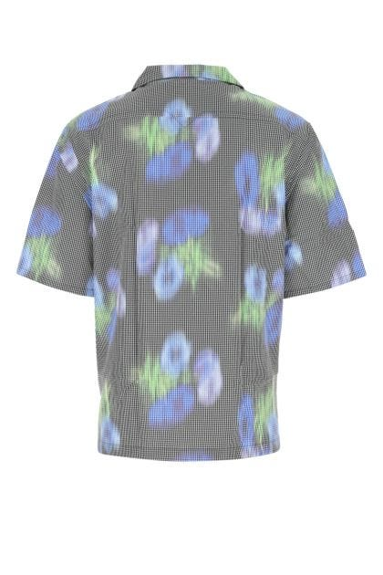 Embroidered acetate blend shirt