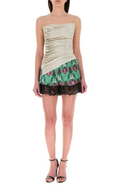 Printed satin shorts