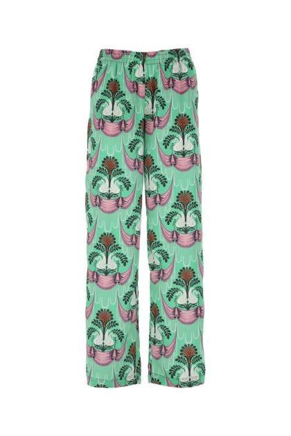 Printed polyester pant