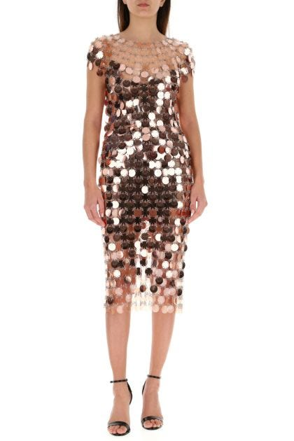 Two-tone sequins and metal skirt
