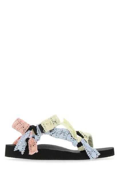 Multicolor lace Trekky sandals