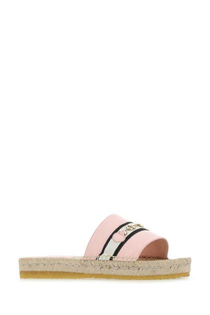 Pink nappa leather Kaden slippers