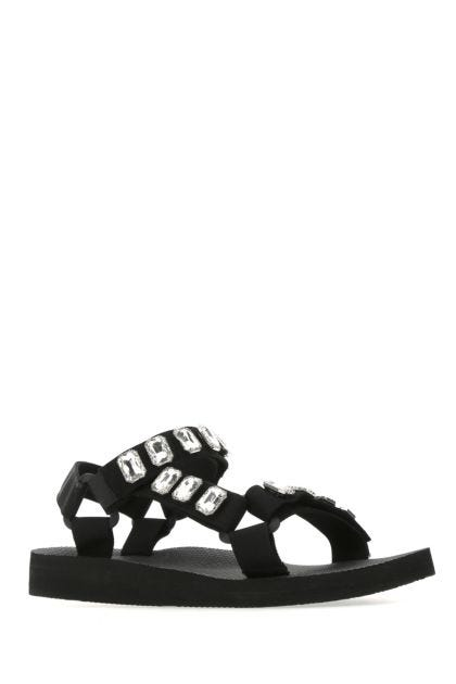 Black polyester Trekky sandals