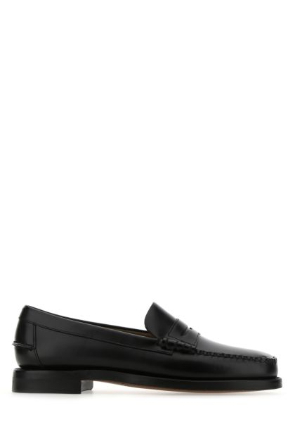 Black leather Classic Dan loafers