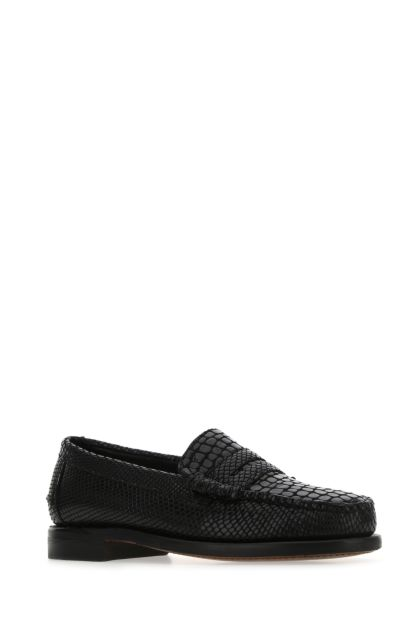 Black leather Dan Cocco loafers