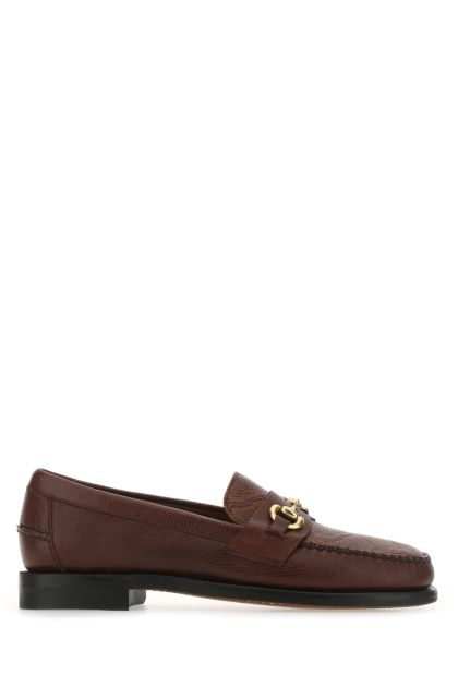 Two-tone leather Joe Pitone loafers
