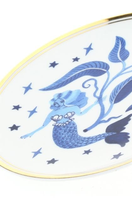 Printed porcelain small plate