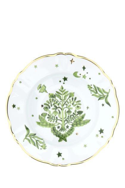 Printed porcelain soup plate