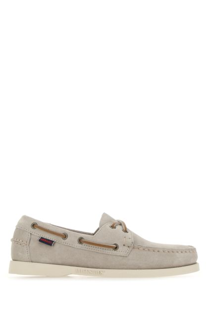 Light grey suede Portland Flesh Out loafers
