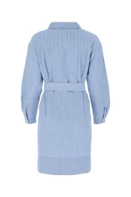 Melange light blue cotton Melissa dress