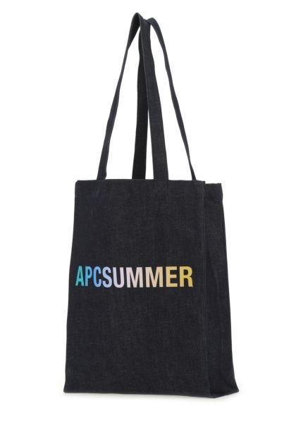 Dark blue denim Laure shopping bag