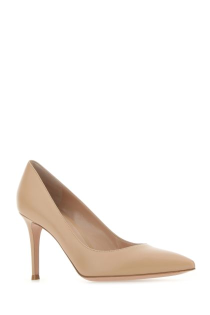 Skin pink leather Gianvito 85 pumps