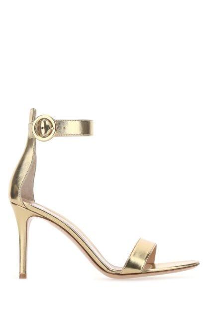 Gold nappa leather Portofino 85 sandals