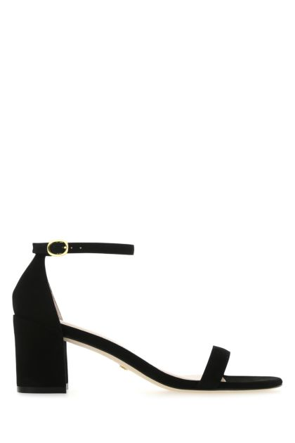 Black suede Simple sandals
