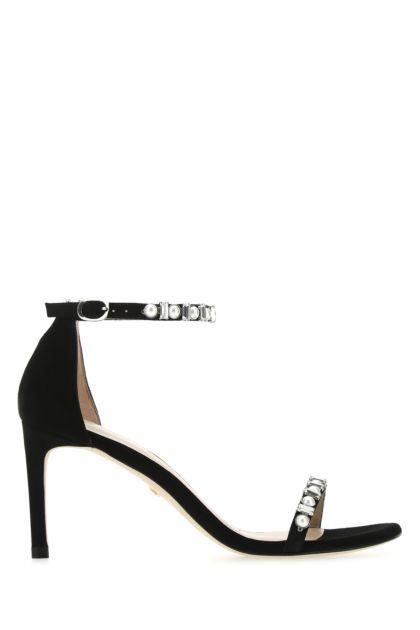 Black suede Nunakedstraight sandals
