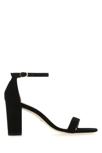 Black suede Nearlynude sandals
