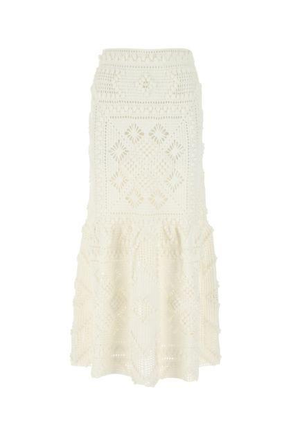 White cotton skirt