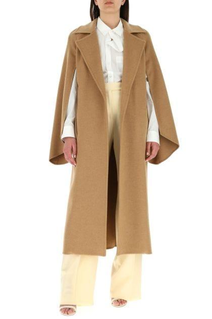 Biscuit wool Milano coat