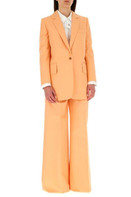 Peach cotton blend Marsala blazer