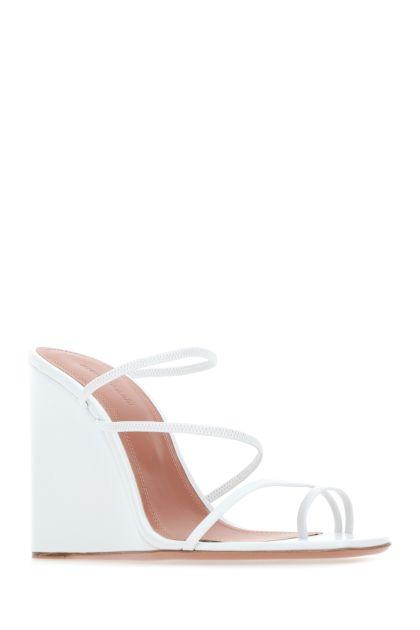 White nappa leather Naima mules